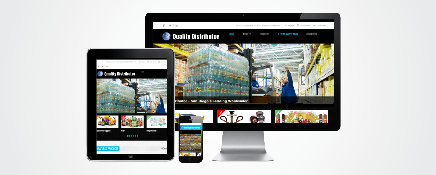 Quality Distributor Website