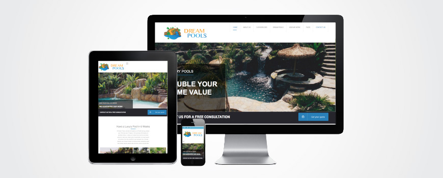 Dream Pools Website
